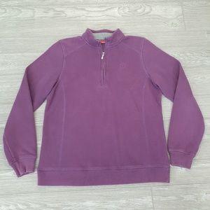 Izod purple 3/4 zip pullover sweater